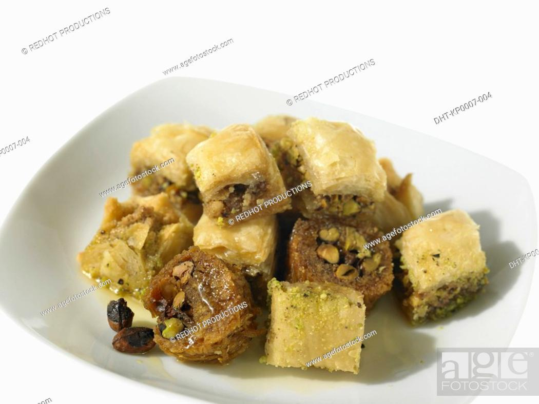 Stock Photo: Plate of Baklawa.