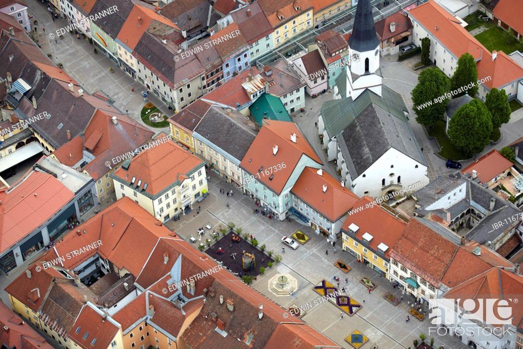 Sankt Veit an der Glan, Carinthia's oldest city, aerial