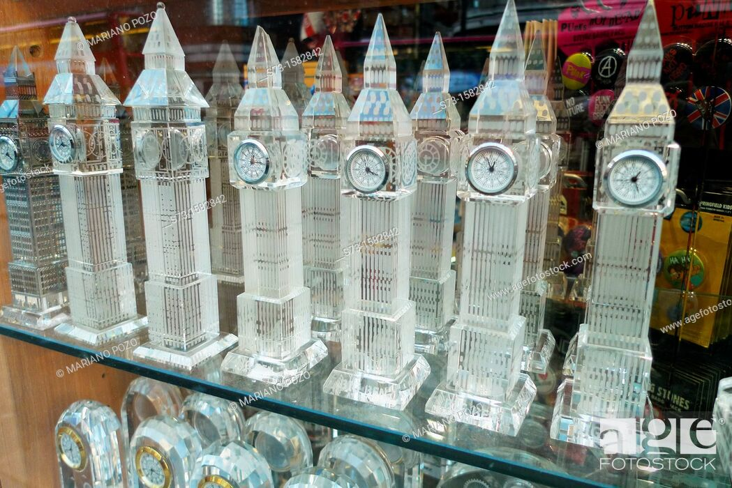 Stock Photo: Big Ben Souvenirs in London, England.