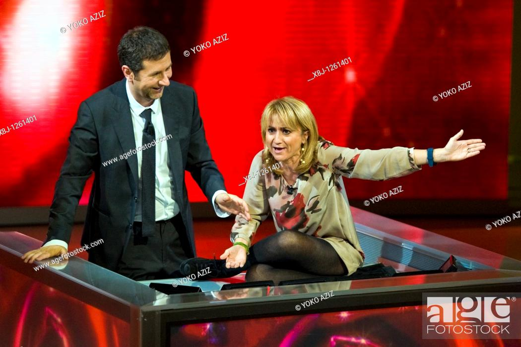 Imagen: 21 11 2010, Che tempo che fa, RAI 3, Milan  Luciana Littizzetto and Fabio Fazio.