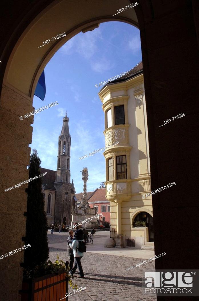 Stock Photo: Storno baroque house. Sopron. Hungary.