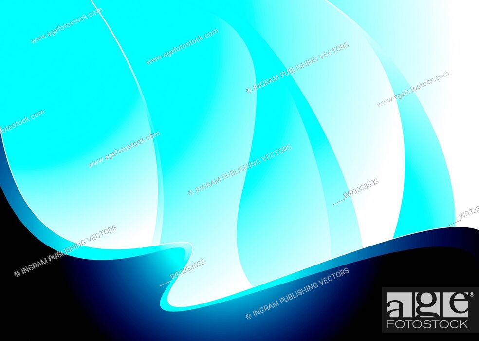 Vector: Blue and white abstract background with lots of copy space.