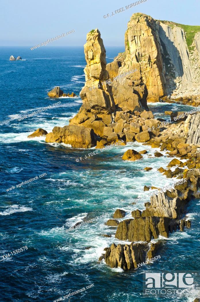 Stock Photo: Liencres  Cantabrian coastline  Santander, Cantabria, Spain.