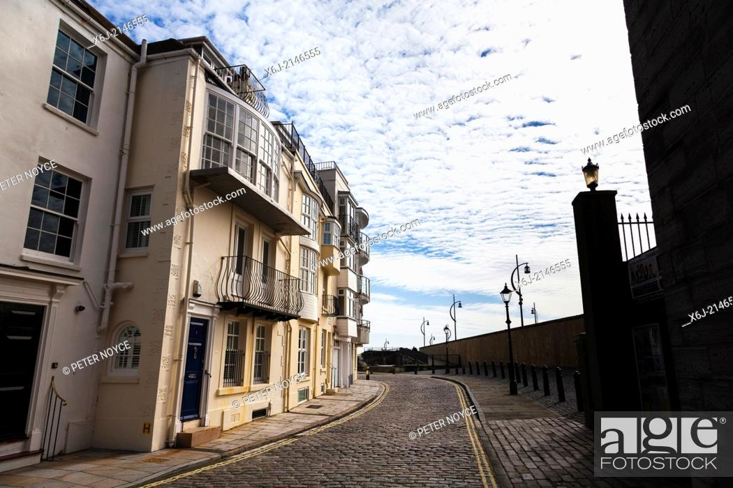 Stock Photo: Cobbled streets around Old Portsmouth.