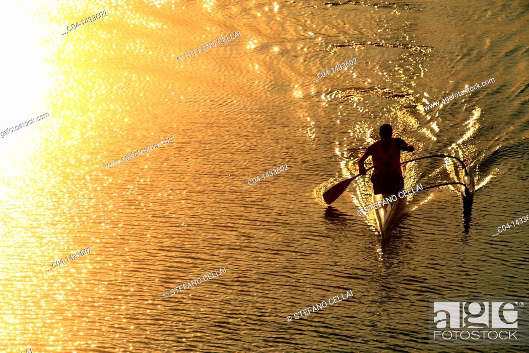 Stock Photo: Arno river, Florence, Tuscany, Italy.