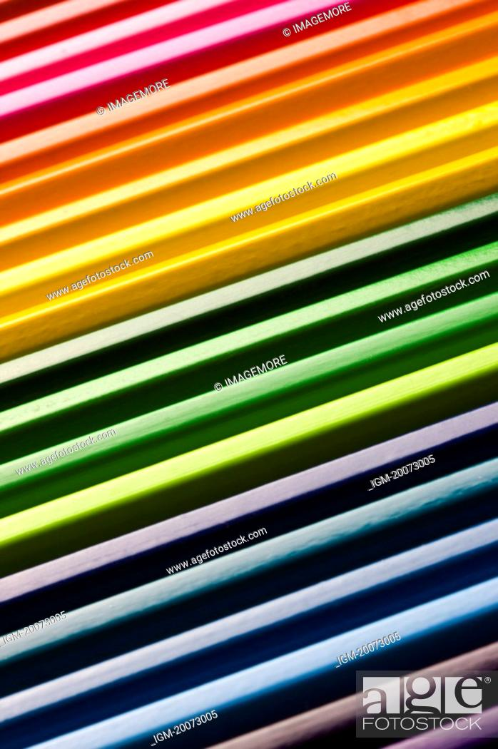 Stock Photo: Colored Pencils, full frame.
