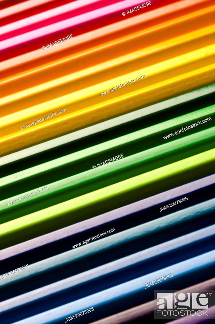 Photo de stock: Colored Pencils, full frame.