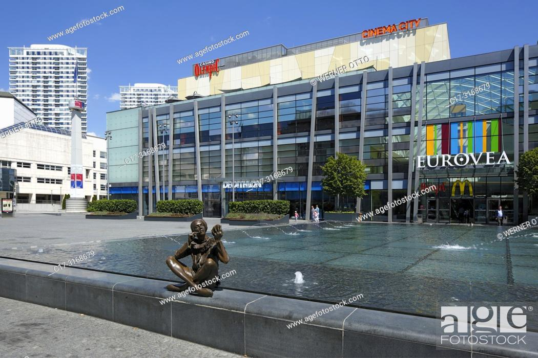 Stock Photo: Bratislava, Slovak Republic, Slovakia, Bratislava, Capital City, Danube, Little Carpathians, Eurovea Gallery, shopping center, department stores.