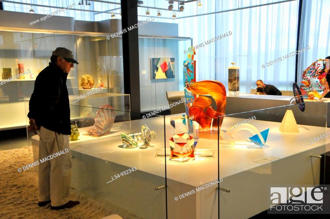 Stock Photo: Museum of Glass Corning New York Finger Lakes Region.