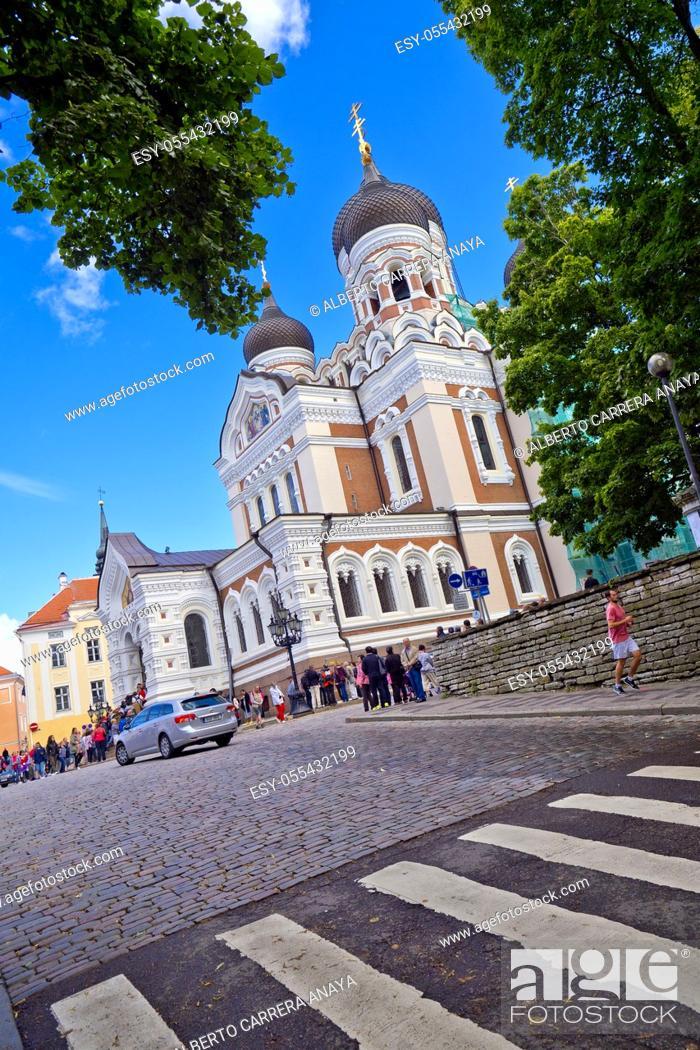 Stock Photo: Alexander Nevsky Cathedral, Old Town, Tallinn, Estonia, Europe.