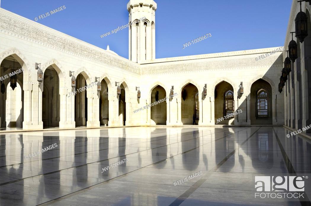 Stock Photo: Sultan Qaboos Grand Mosque, Muscat, Oman.