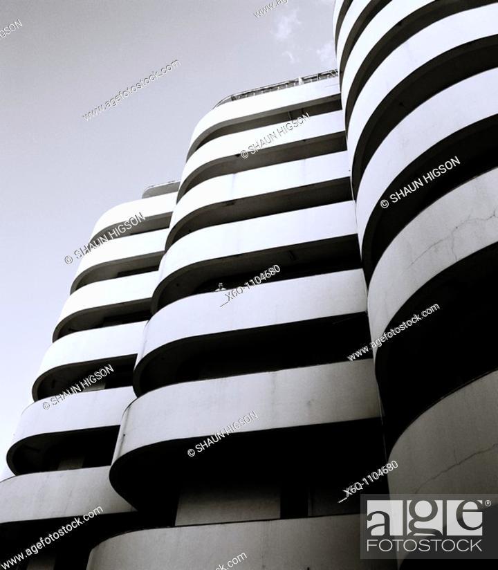 Stock Photo: The Solimar apartment building in Havana, Cuba.