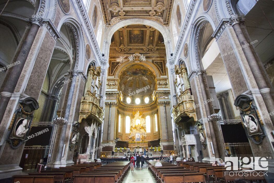 Imagen: Naples Cathedral of the Assumption of Mary, Cattedrale di Santa Maria Assunta or Cattedrale di San Gennaro, Naples, Campania, Italy, Europe.