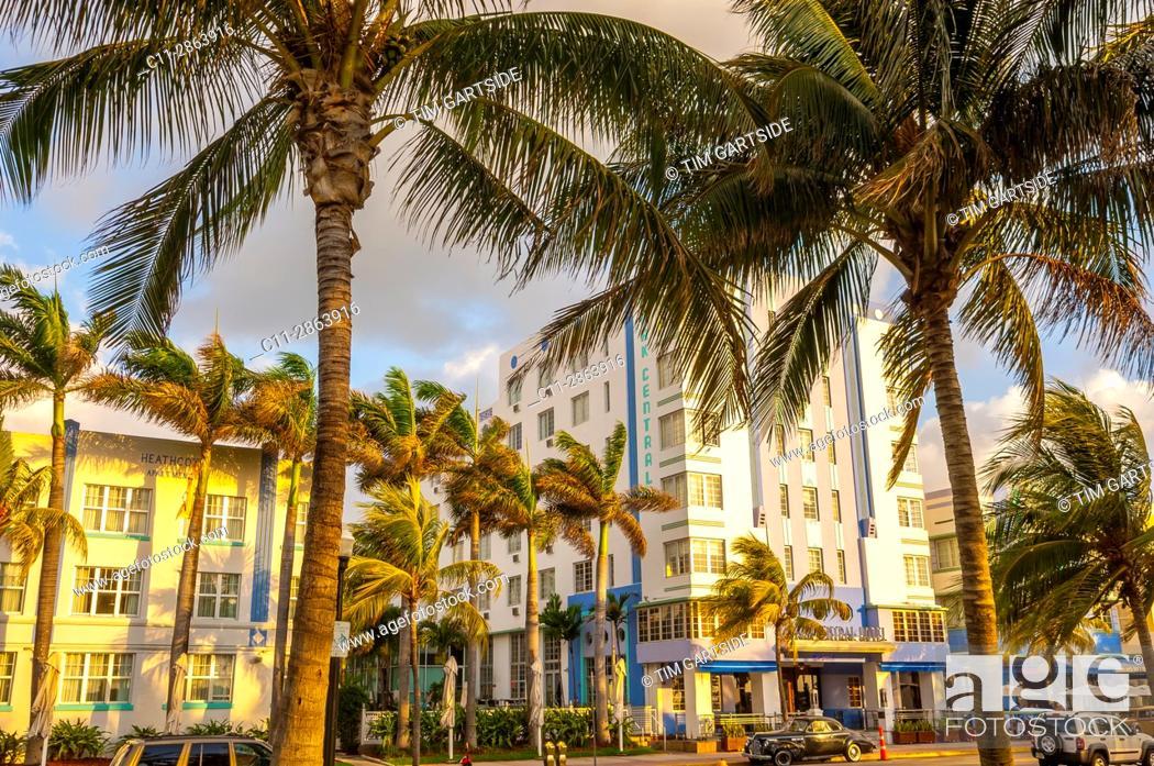 Imagen: park central Hotel, South Beach, Ocean Drive, Miami, Florida, USA.
