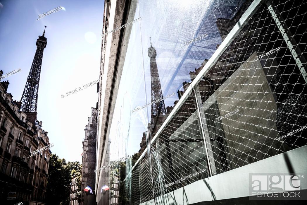 Stock Photo: Eiffel tower in Paris.