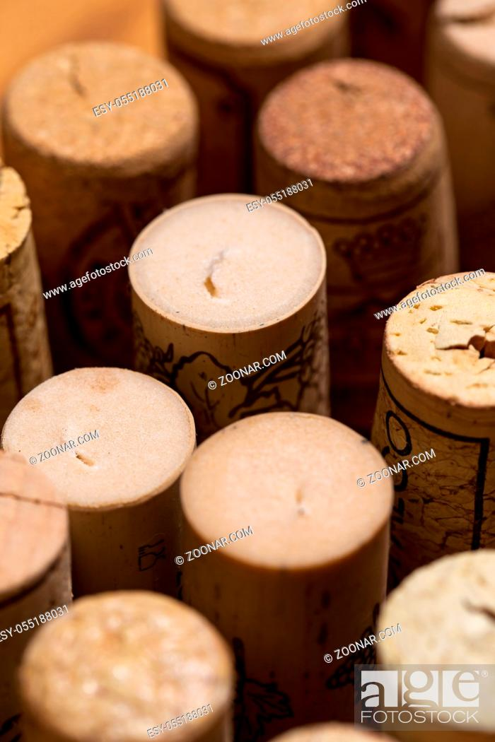 Stock Photo: Wine cork collection.