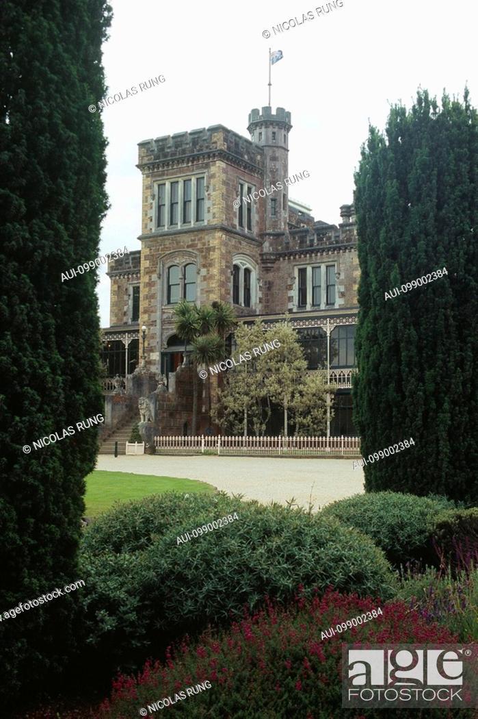 Stock Photo: New Zealand - South Island - Otago Peninsula - Larnach Castle 1871.