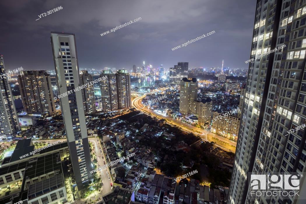 Stock Photo: The new Ho Chi Minh city skyline, Ho Chi Minh, Vietnam.