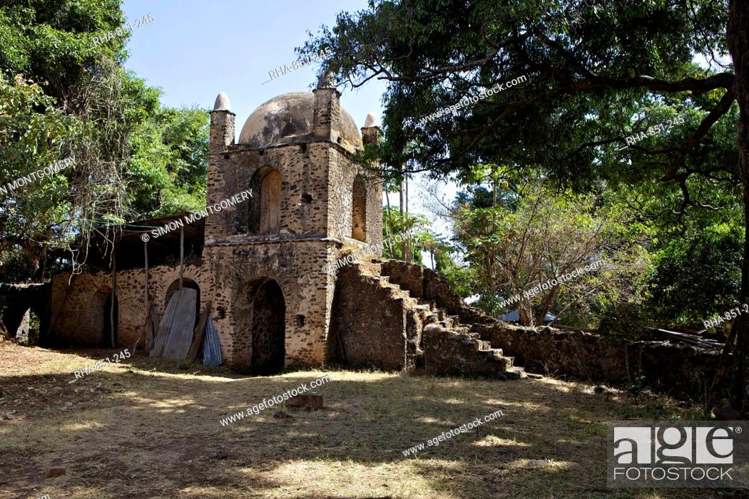 Stock Photo: Narga Selassie island monastery, Lake Tana, Zege Peninsula, Ethiopia, Africa.