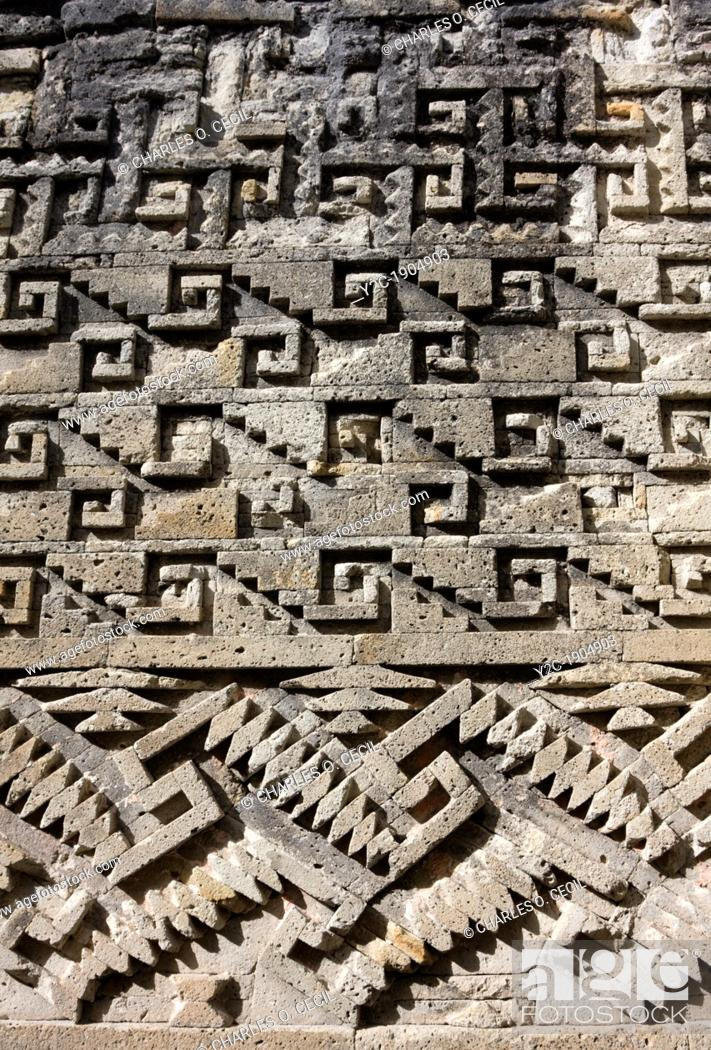 Mitla Oaxaca Mexico Zapotec Geometric Designs And Symbols Decorate