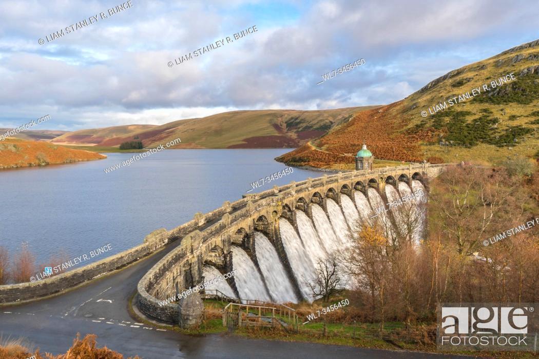Stock Photo: Craig Goch Dam Elan Valley Radnorshire, Wales UK. November 2019.
