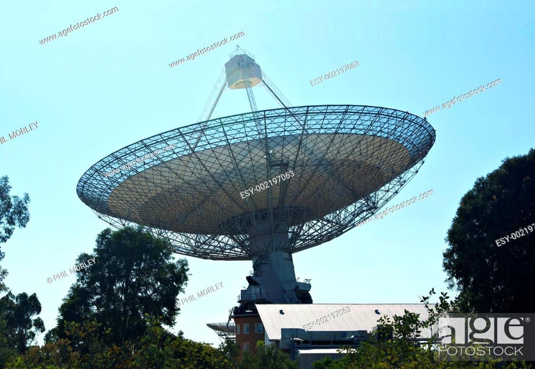 Stock Photo: radio telescope.