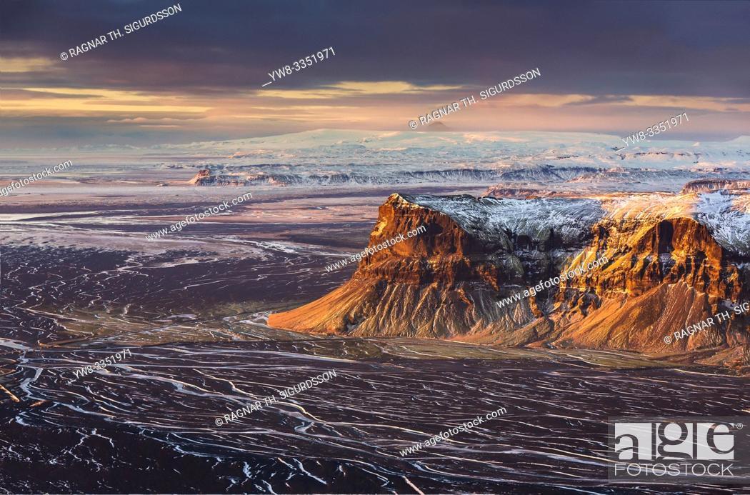 Stock Photo: Arfarvegir Canyon, Mt. Lomagnupur, Vatnajokull National Park, Unesco World Heritage Site, Iceland.