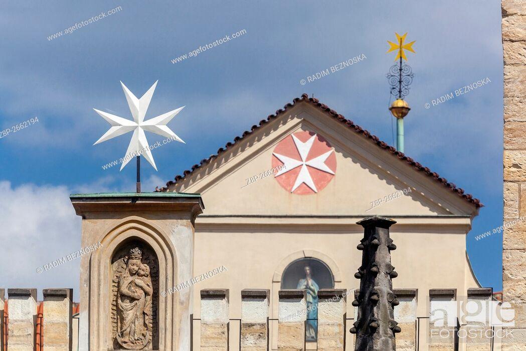 Stock Photo: Church of Virgin Mary under Chain, Lesser Town, Prague, Czech Republic.