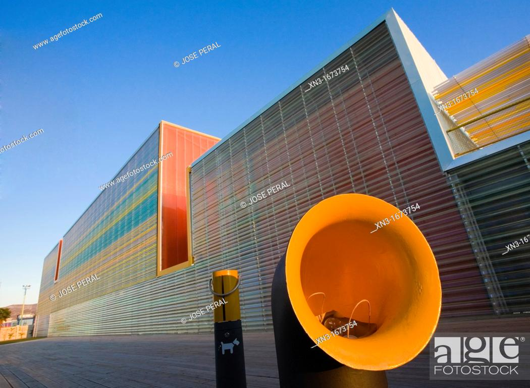 Stock Photo: Auditorium and Conference Centre The Batel, Auditorio y Palacio de Congresos El Batel, Cartagena, Murcia region, Spain.