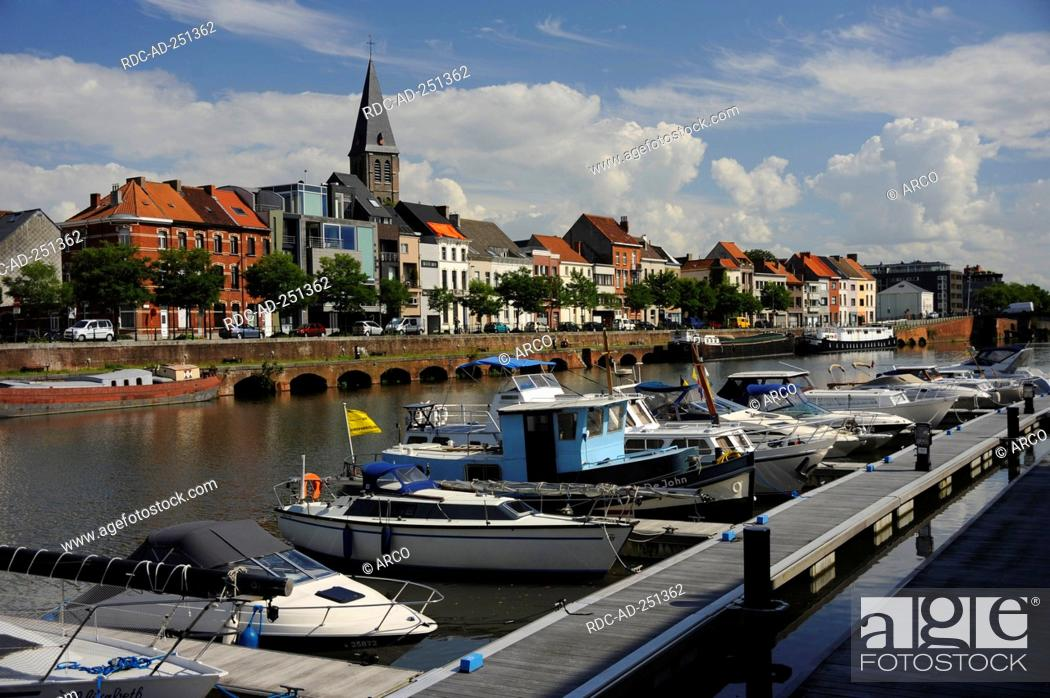 Yacht harbour 'Portus Ganda' Ghent East Flanders Belgium