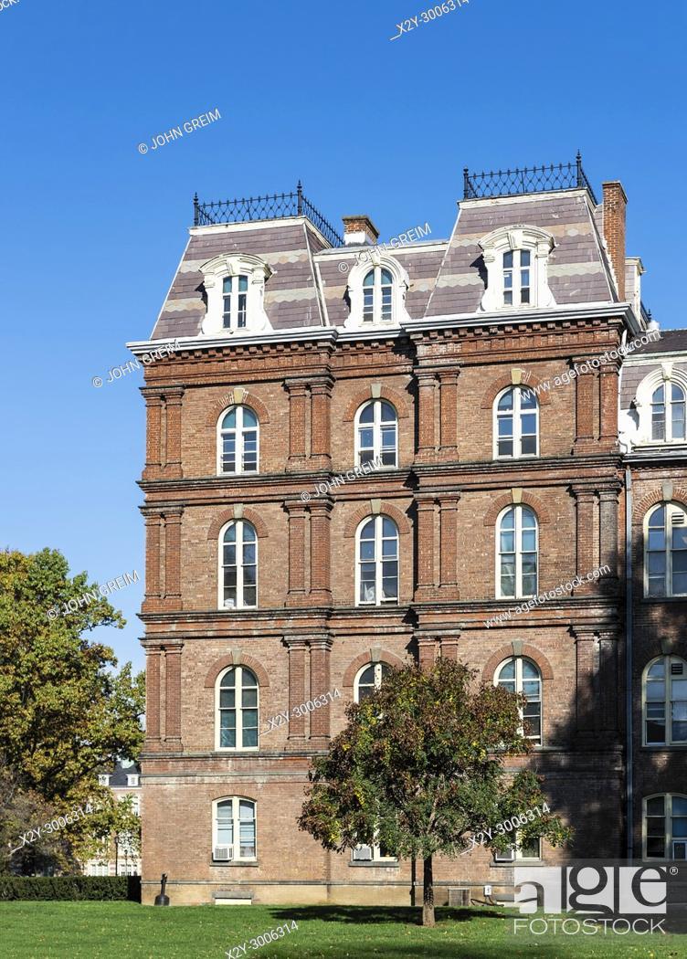 Stock Photo: Rockefeller Hall at Vassar College, Poughkeepsie, New York, USA.