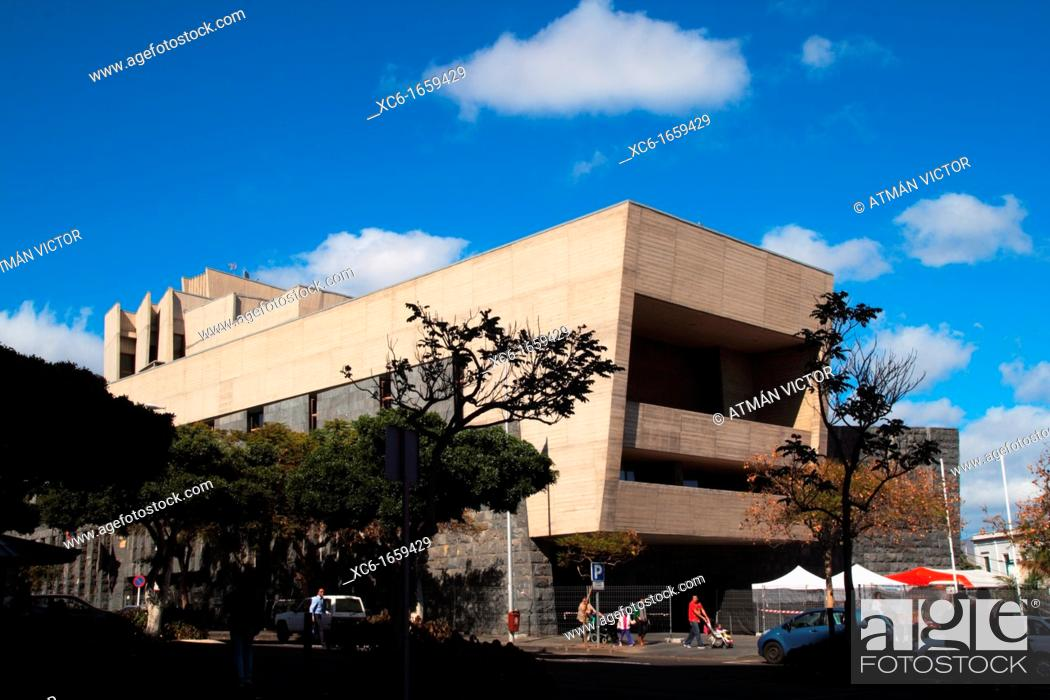 Stock Photo: Canarian government seat in Santa Cruz de Tenerife.