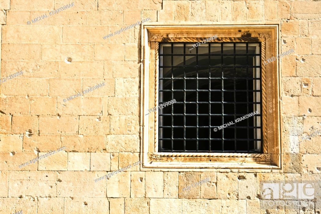Stock Photo: Detail of old building in Dubrovnik.