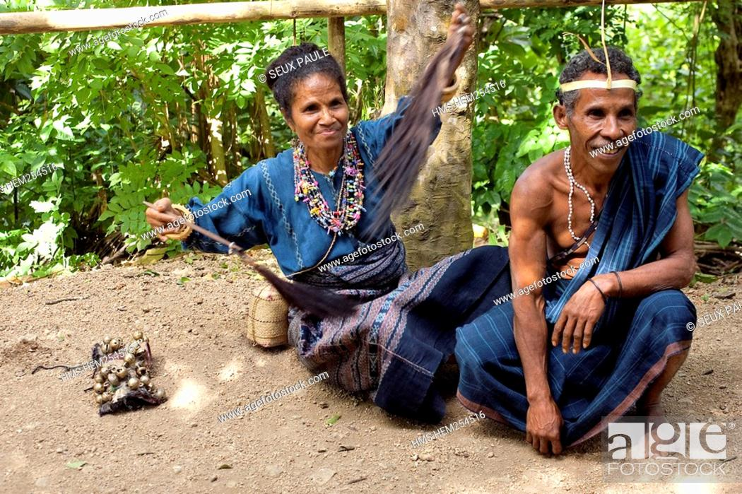 Indonesia Sunda Islands Flores People Stock Photo Picture And