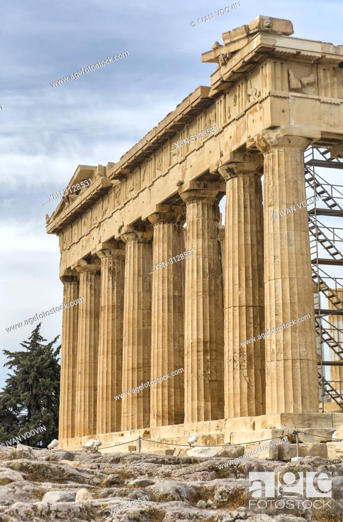 Stock Photo: Parthenon temple (432 BC), Athens, Greece.