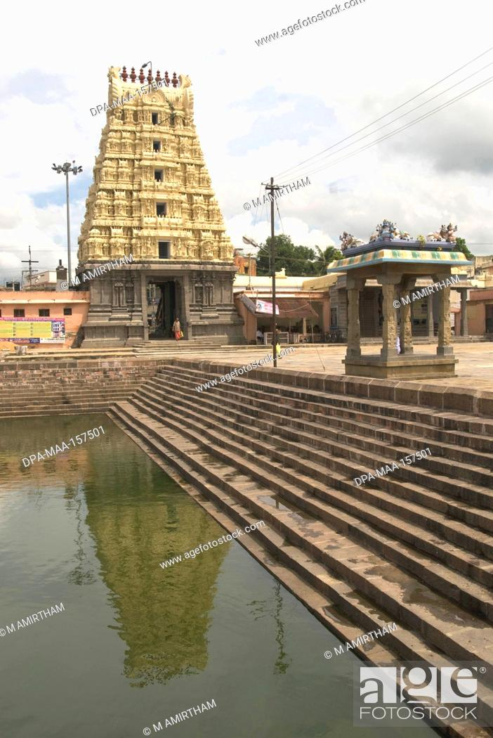 Stock Photo: Kachabeswarar temple dedicated to lord Shiva in Kanchipuram ; Tamil Nadu ; India.