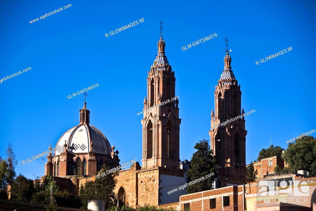 Stock Photo: Low angle view of a church, Ex Convento De San Francisco, Zacatecas, Mexico.