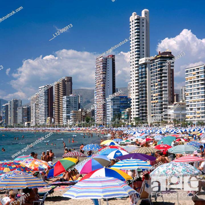 Stock Photo: Levante beach. Benidorm. Costa Blanca. Alicante province. Spain.