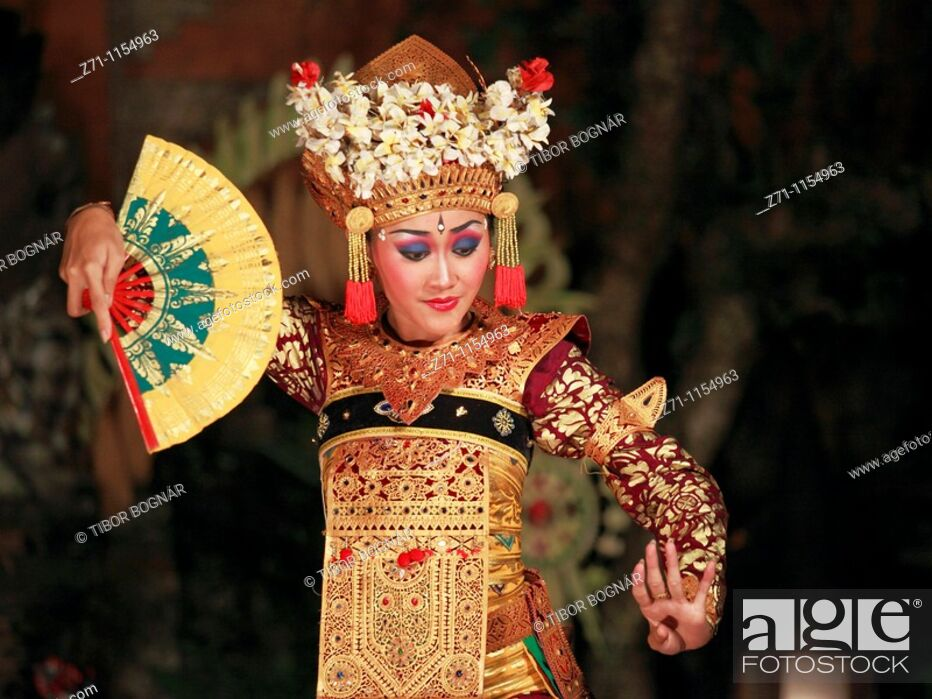 Stock Photo: Indonesia, Bali, Ubud, classical dancer, Ramayana ballet performance,.