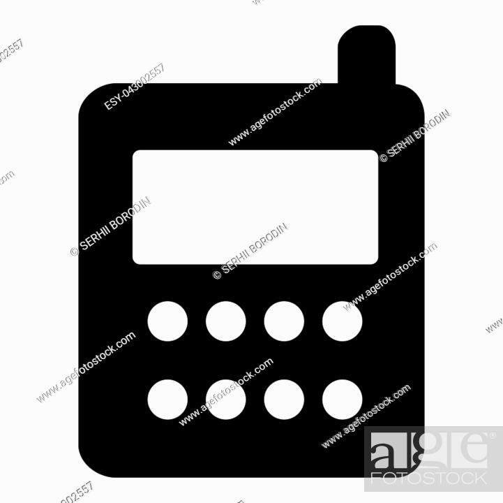 Stock Vector: Phone icon vector illustration isolated icon black color vector illustration isolated.