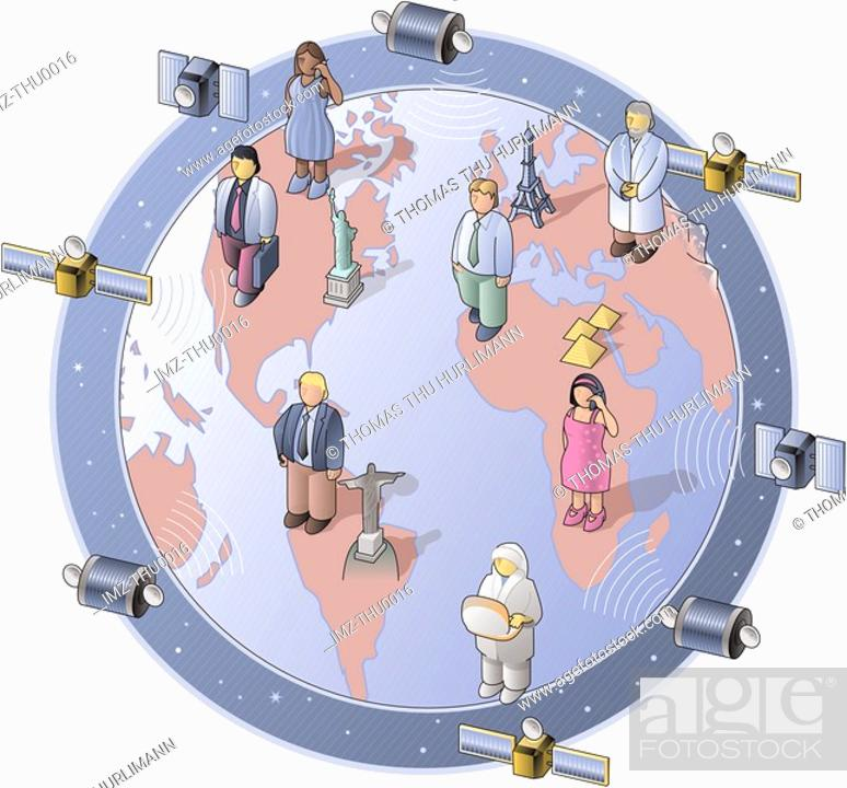 Stock Photo: satellites.