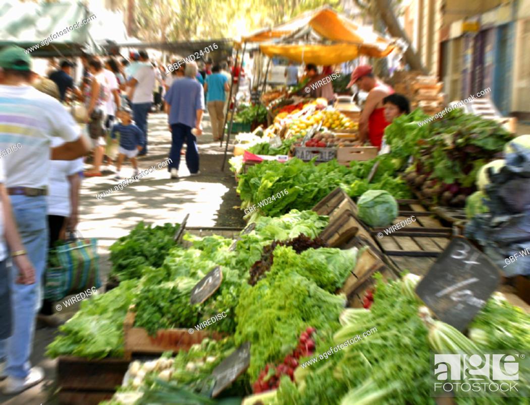 Stock Photo: People, street fair.