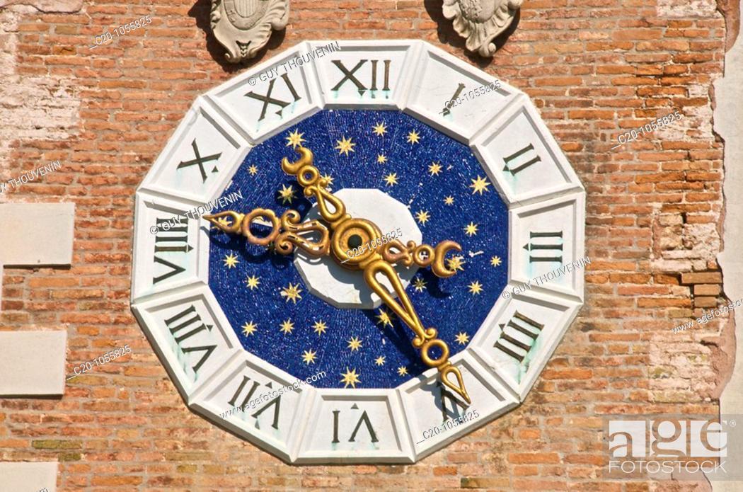 Stock Photo: symbolical Venetian lion, Arsenal ground entrance, detail, Venice, Italy.