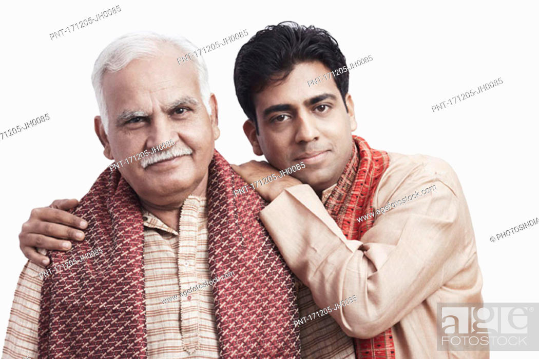 Stock Photo: Portrait of a father and his son.