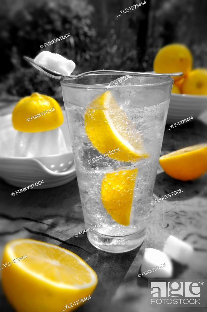 Stock Photo: Home made lemonade.