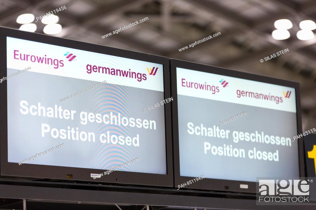 A Bilingual German English Eurowings And Germanwings Monitor