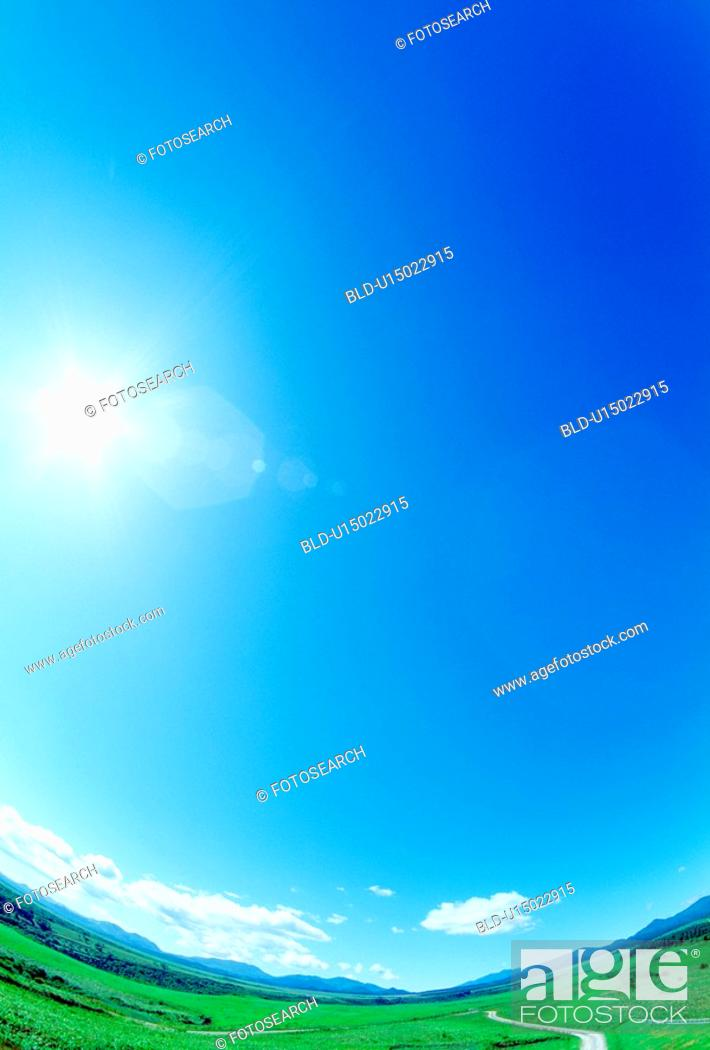 Stock Photo: Plain and blue sky.