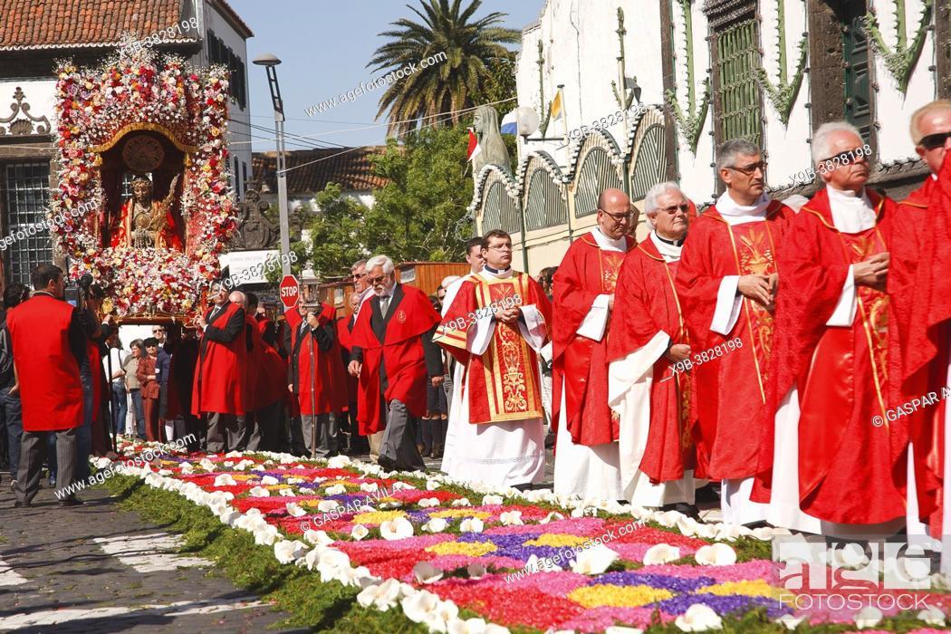 Stock Photo: Senhor Santo Cristo dos Milagres (Our Lord Holy Christ of Miracles) religious festival. Ponta Delgada, Azores islands, Portugal.