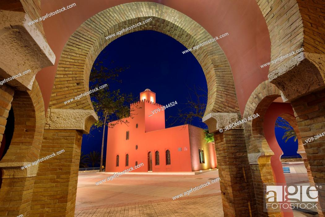 Imagen: Bil-Bil castle built in neo-Arab style in 1934, Benalmadena. Malaga province Costa del Sol. Andalusia Southern Spain, Europe.