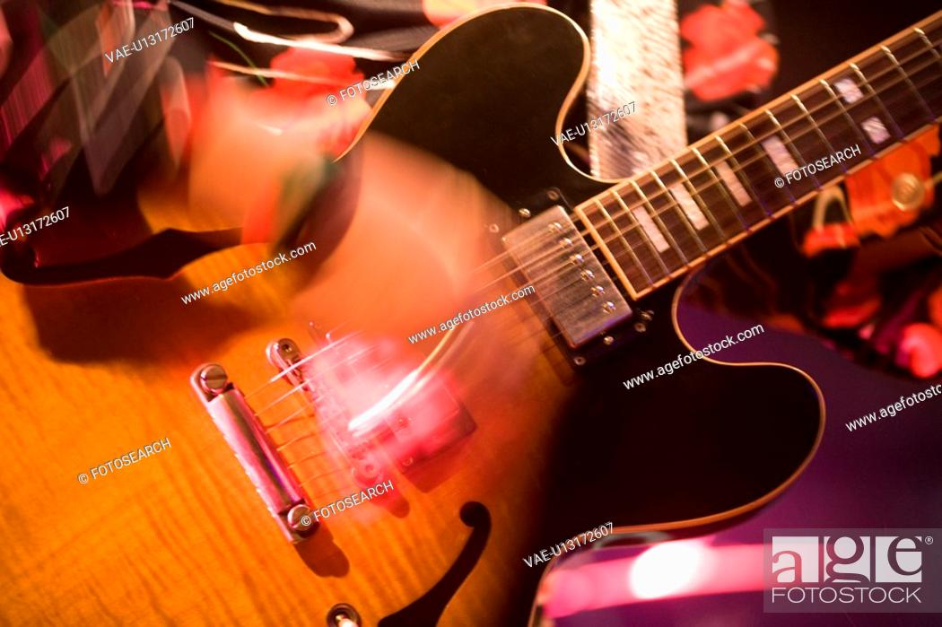Stock Photo: Electronic guitar.